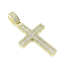 Other - Gold over 925 Sterling Silver CZ Pendant Charm
